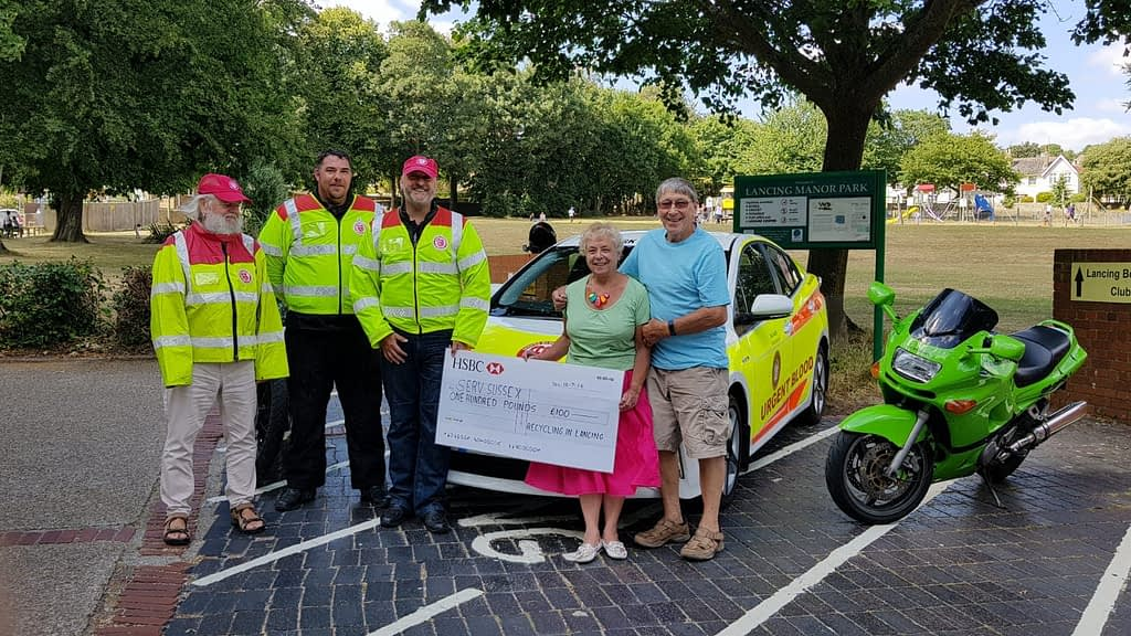 Recycling in Lancing Serv Sussex donation-2018