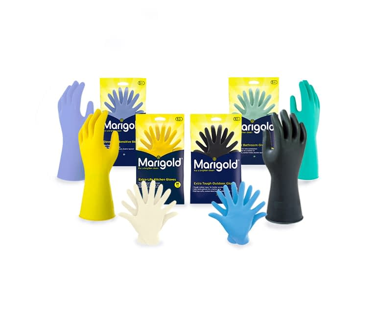 Recycling in Lancing - Marigold-gloves