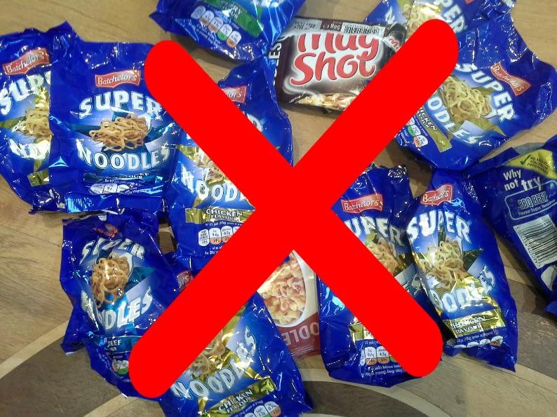 No Super Noodle Packets