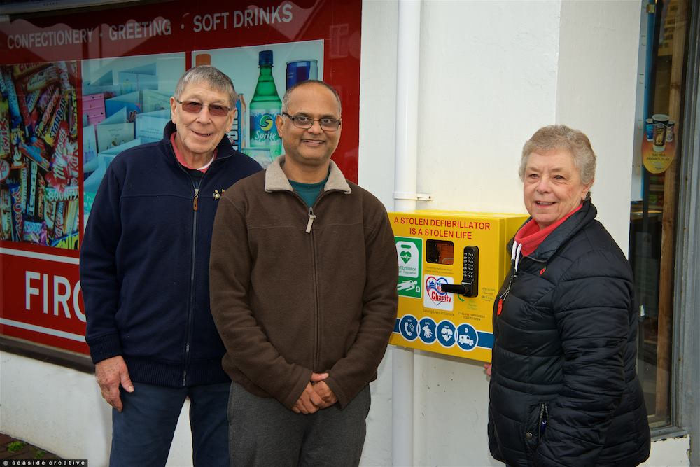 Recycling in Lancing - defibrillator donation