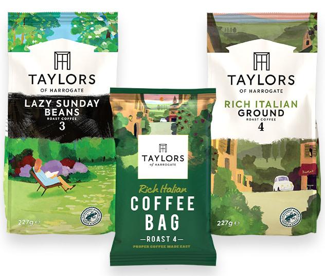 Taylor's of Harrogate flexible coffee packaging