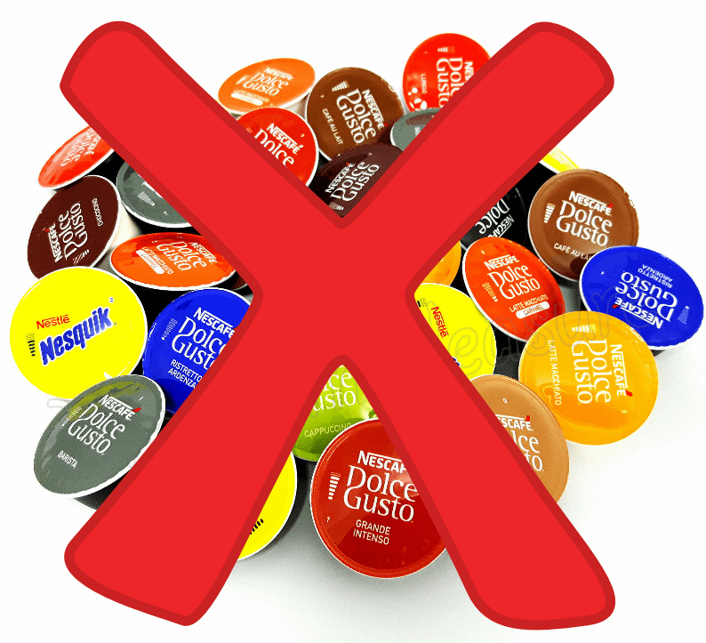 NO to Dolce Gusto coffee Pods